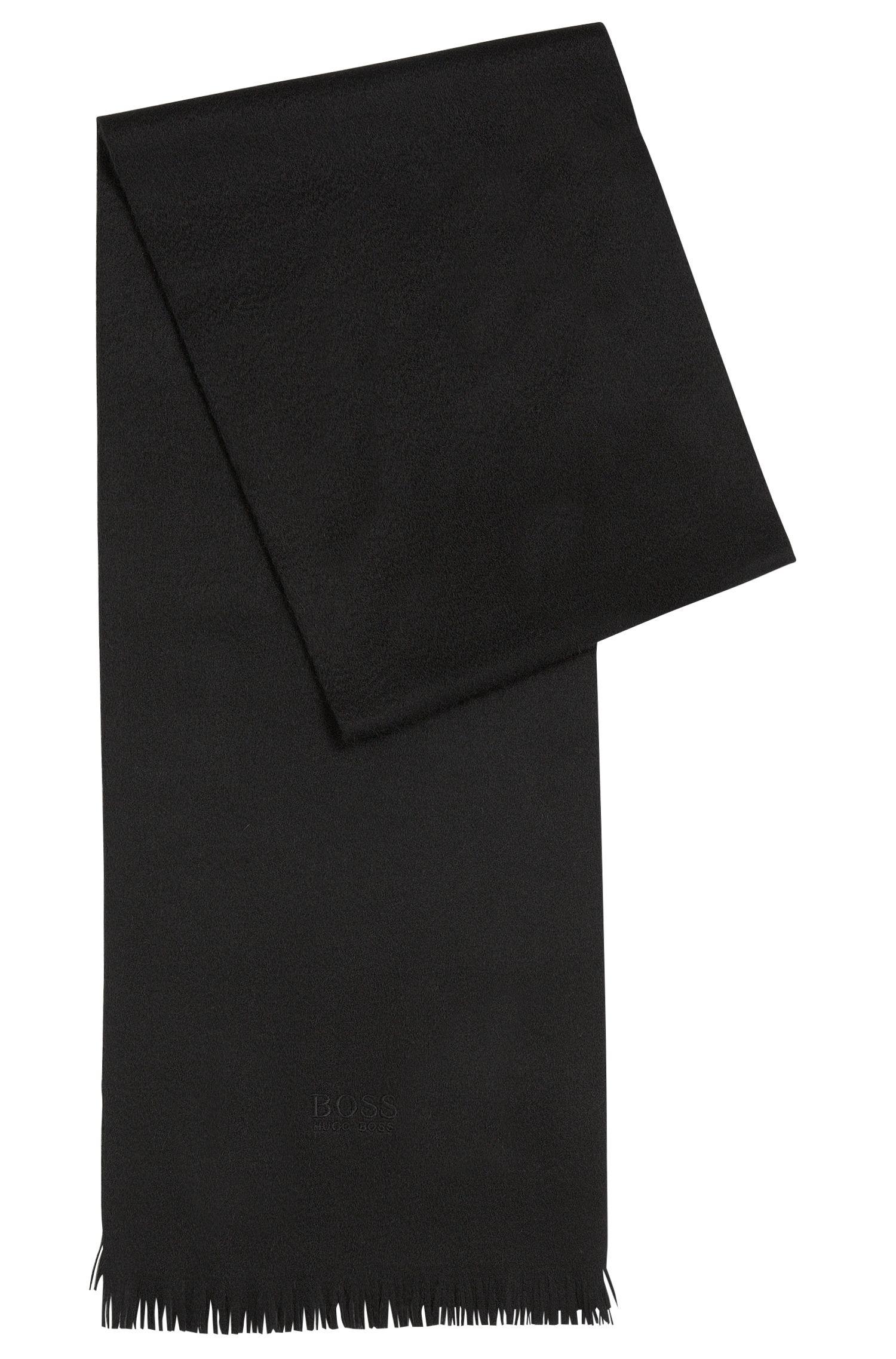 Sjaal van kasjmier met franje
