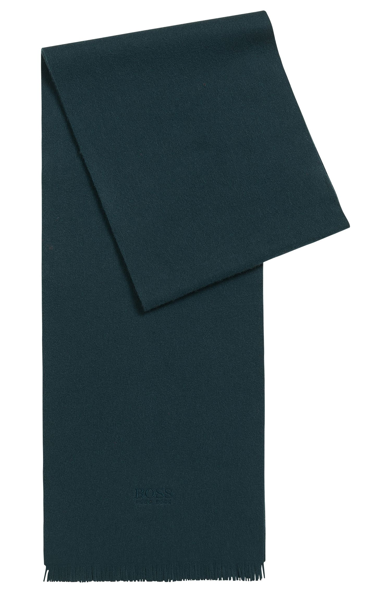 Bufanda de cachemira con flecos en los extremos