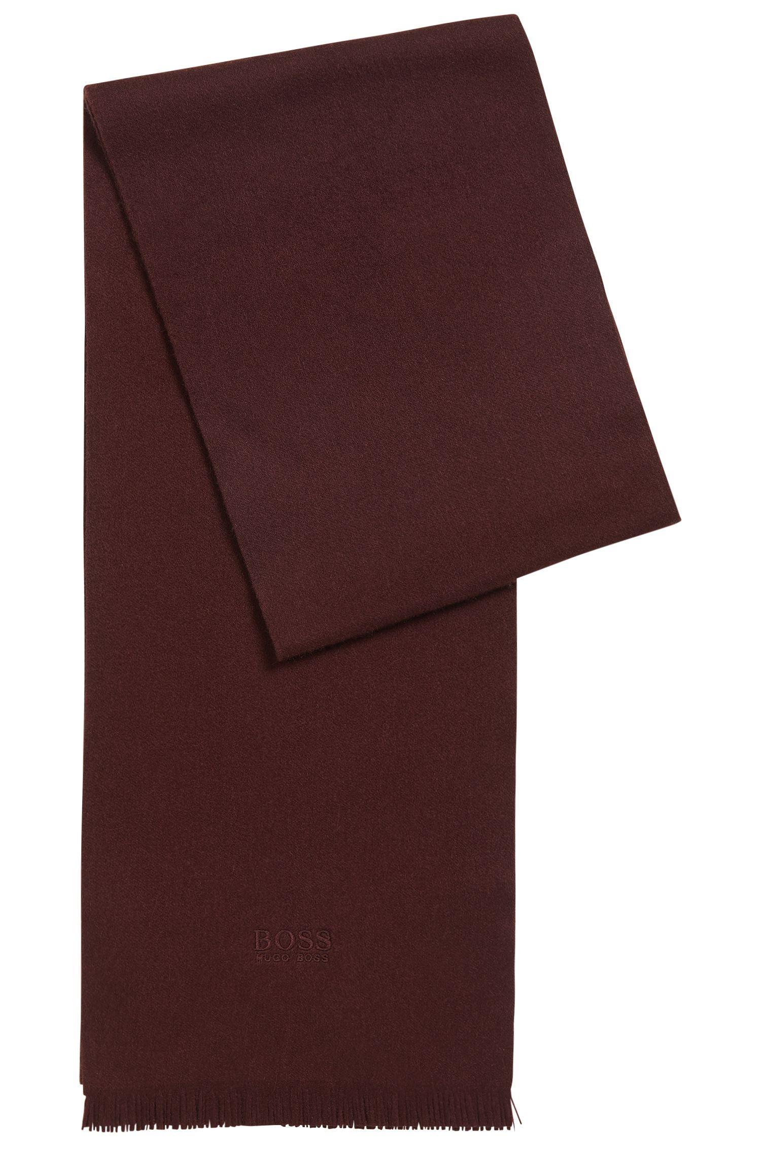 Sciarpa in cashmere con estremità con frange