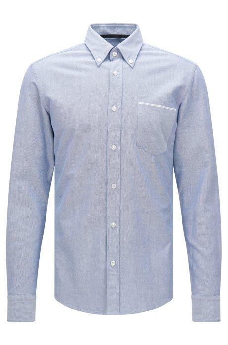 63130a30ebcbe BOSS - Chemise Slim Fit en coton, avec poche-poitrine plaquée ...