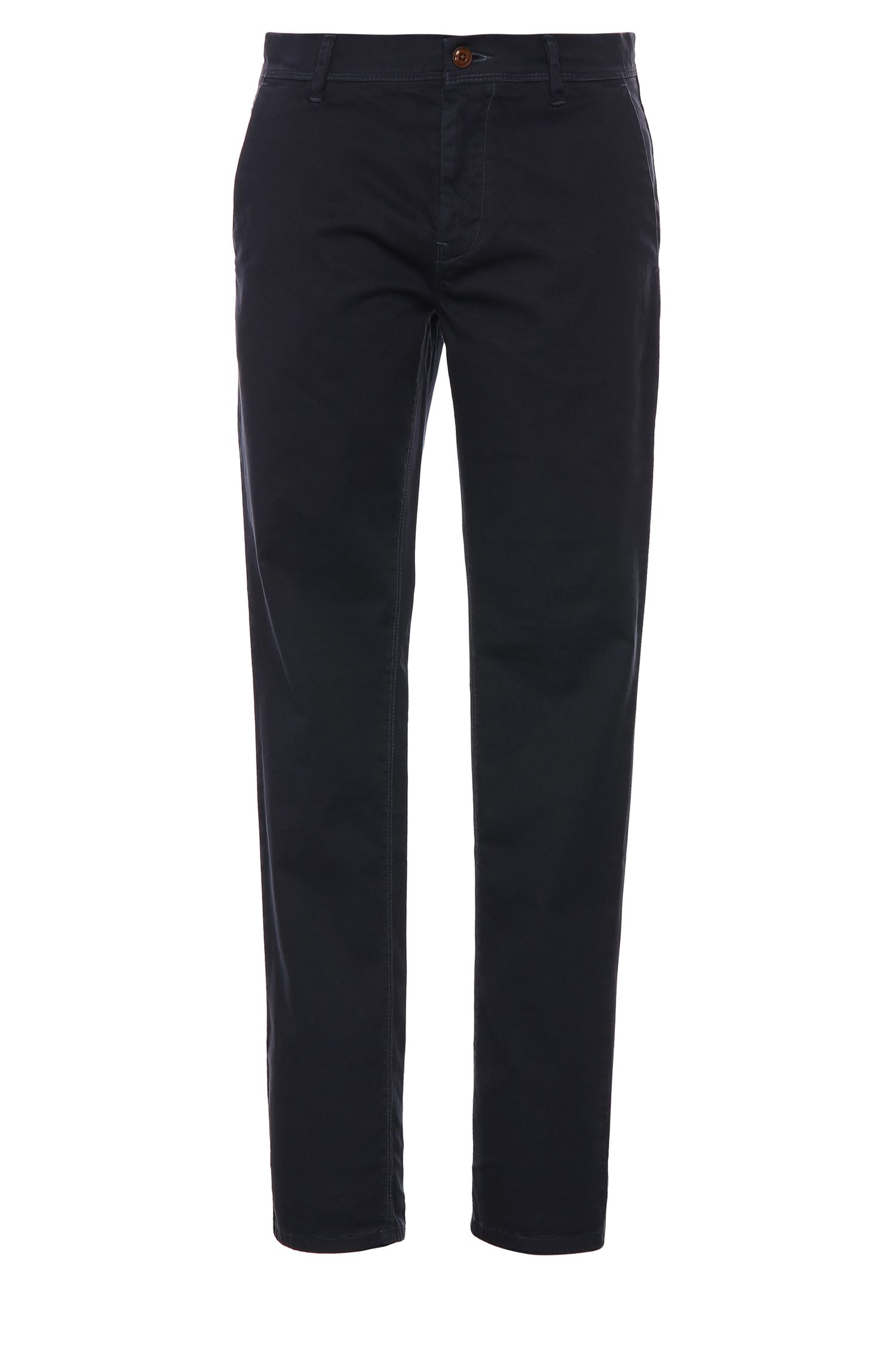 Slim-fit chinos in cotton and elastane: 'Schino-Slender-D'