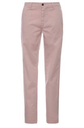 Chino Slim Fit en coton extensible: «Schino-Slender-D», Rose clair