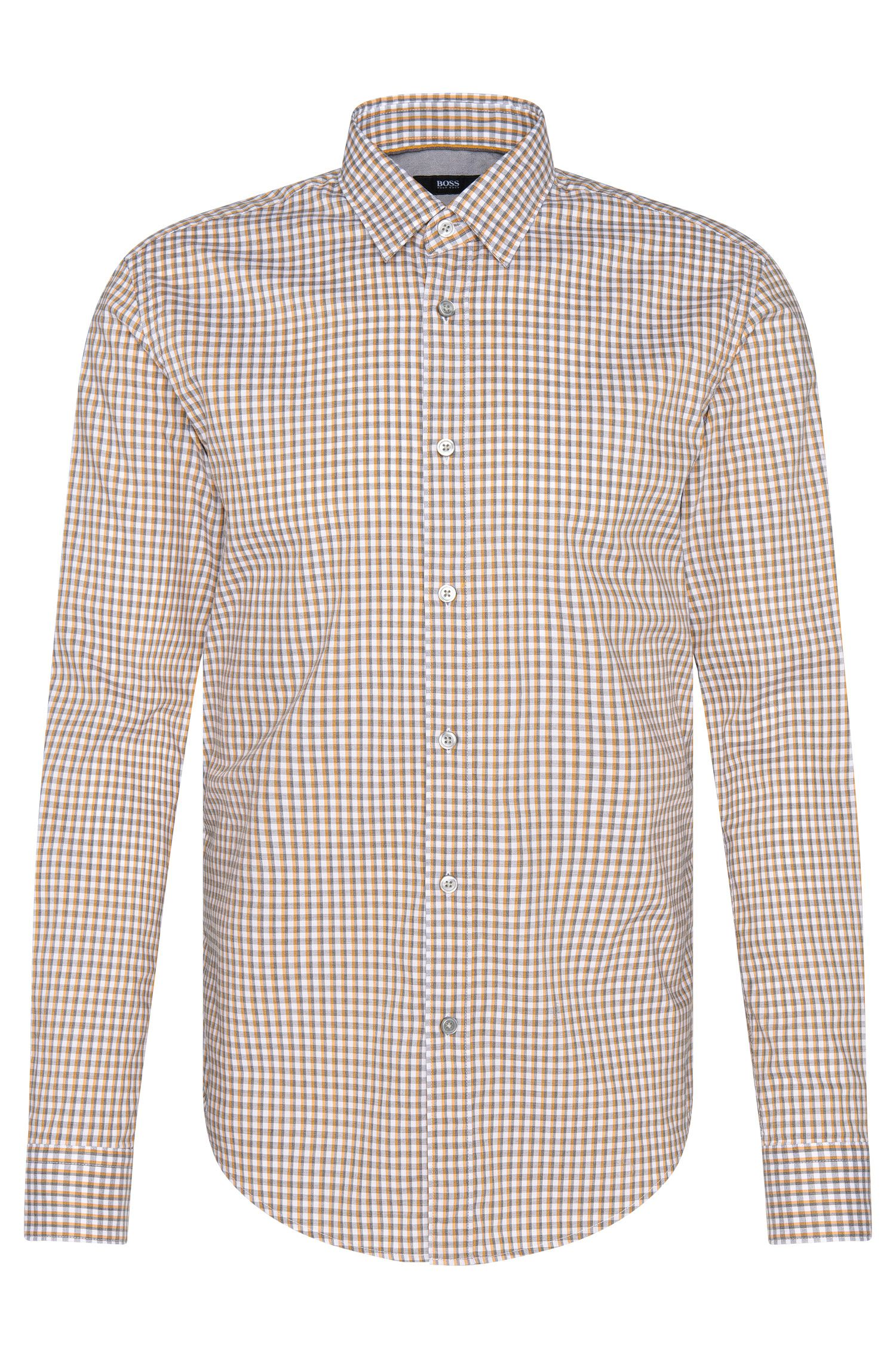 Kariertes Slim-Fit Hemd aus reiner Baumwolle: 'Ronni_4'