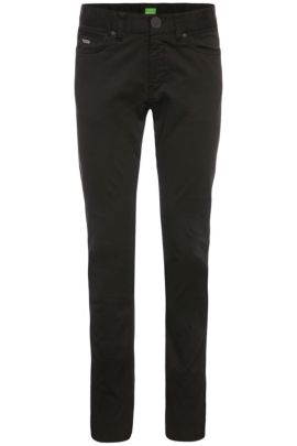 Slim-fit trousers in stretch cotton: 'C-Delaware2-3-20', Black