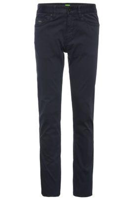 Pantaloni slim fit in cotone elasticizzato: 'C-Delaware2-3-20', Blu scuro