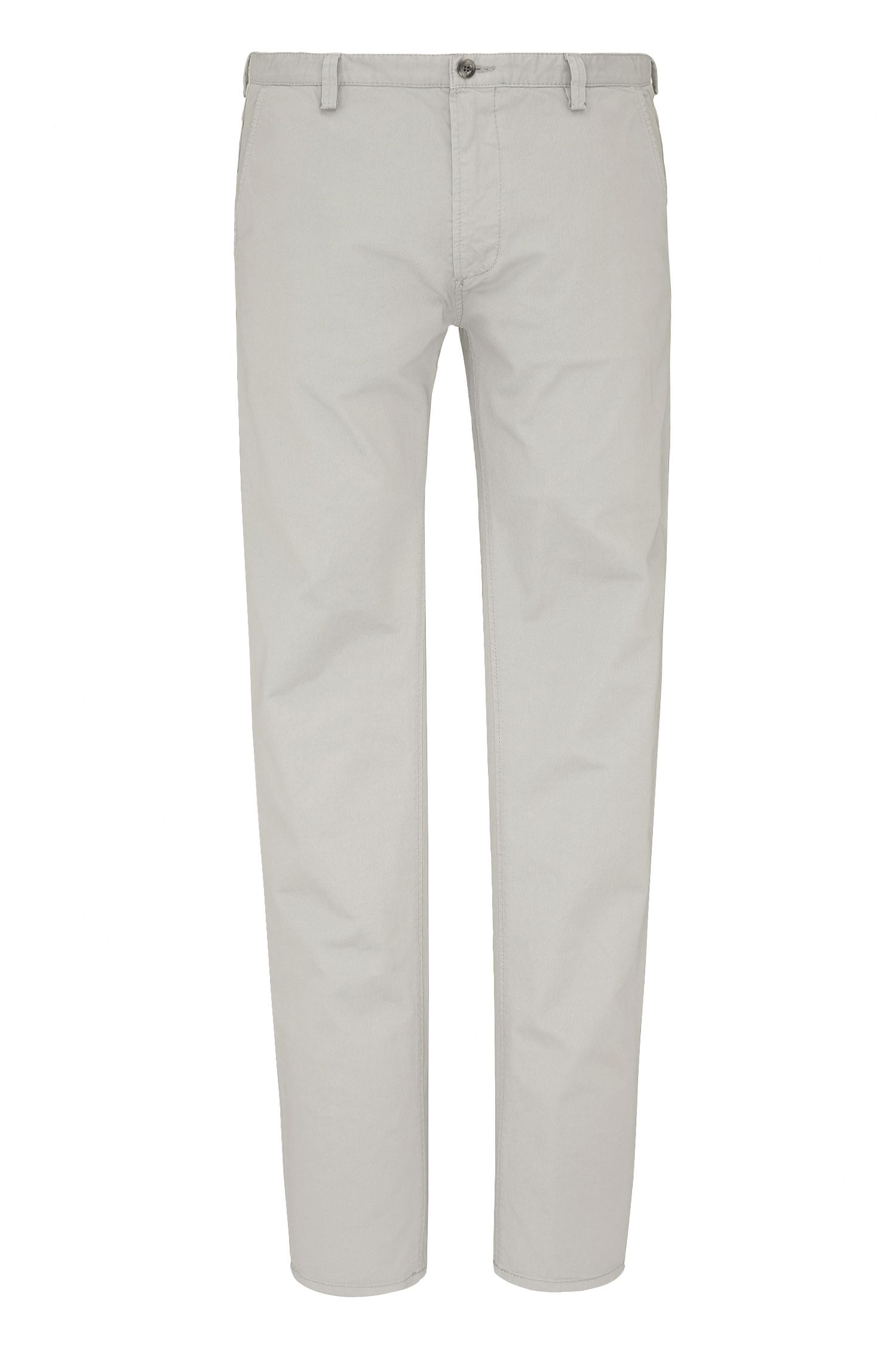 Pantaloni slim fit in gabardine elasticizzata