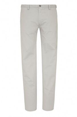 Slim-Fit Hose aus Stretch-Baumwolle , Hellgrau