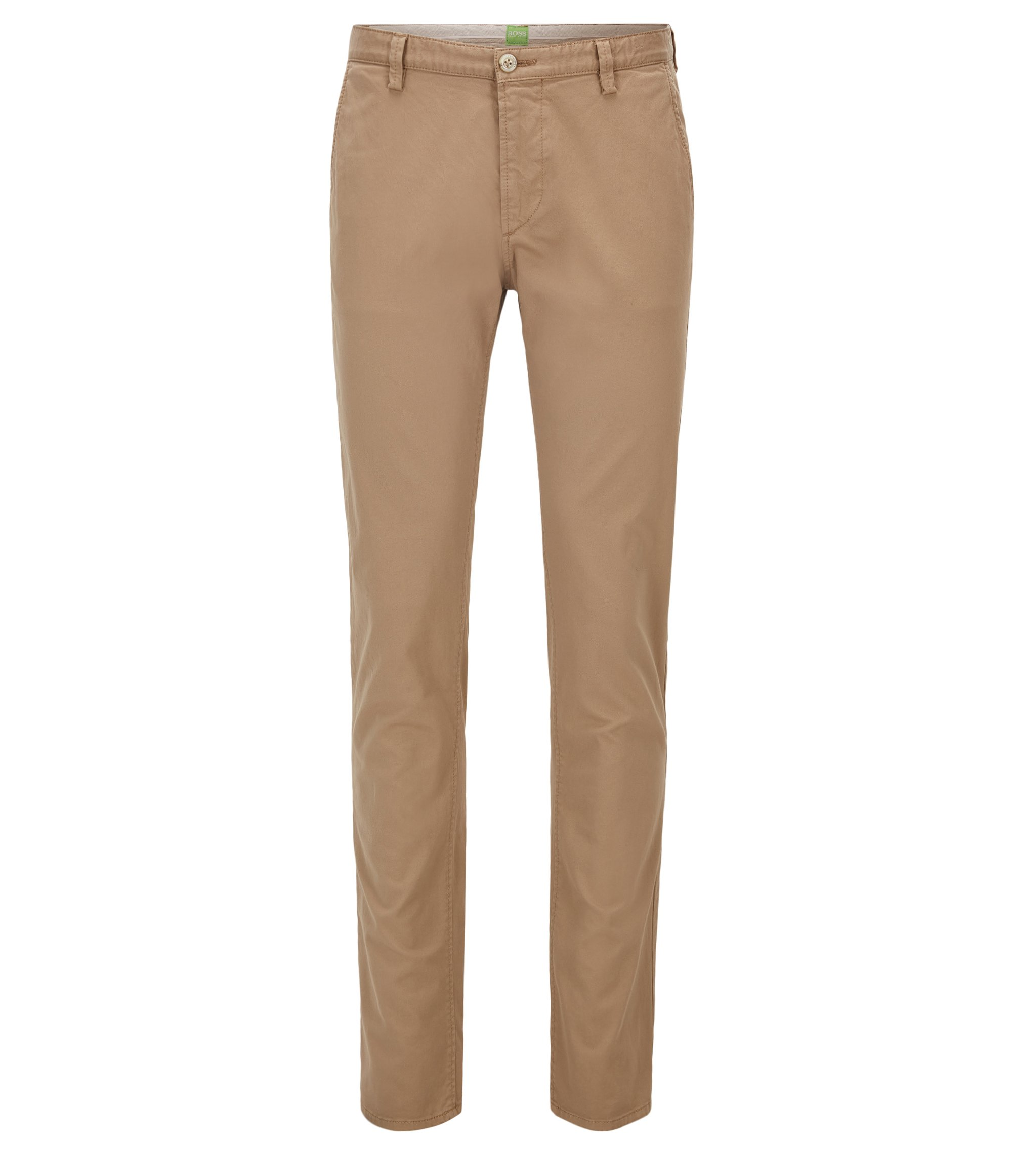 Slim-Fit Hose aus Stretch-Baumwolle , Beige