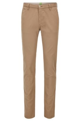 Pantalon Slim Fit en gabardine stretch, Beige