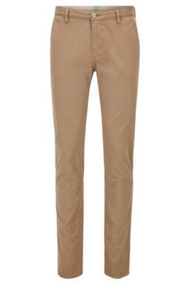 Slim-Fit Hose aus Stretch-Baumwolle , Beige