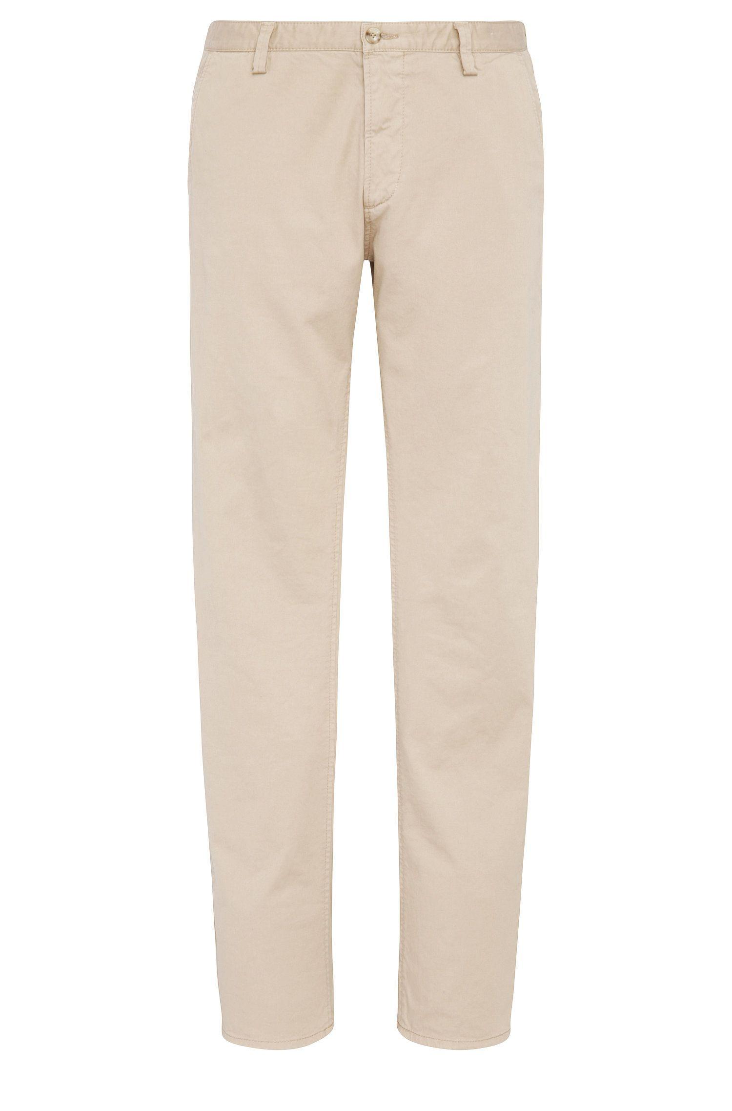Slim-fit broek van stretchgabardine