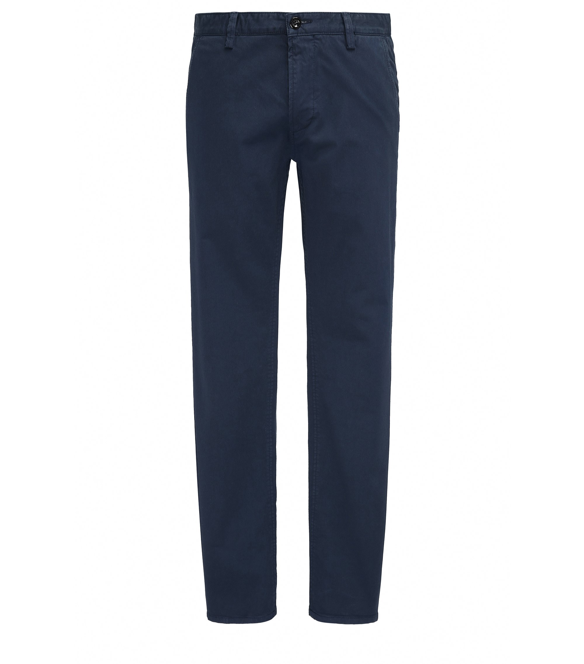 Pantalon Slim Fit en gabardine stretch, Bleu foncé
