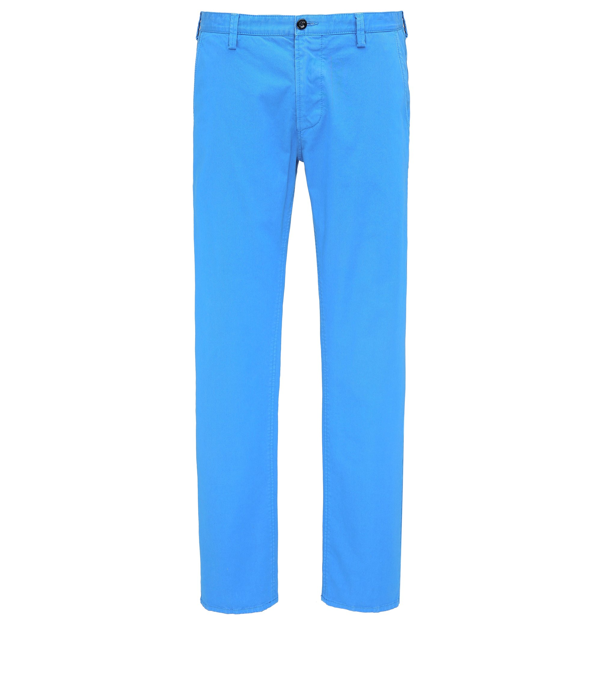 Slim-fit broek van stretchgabardine, Turkoois