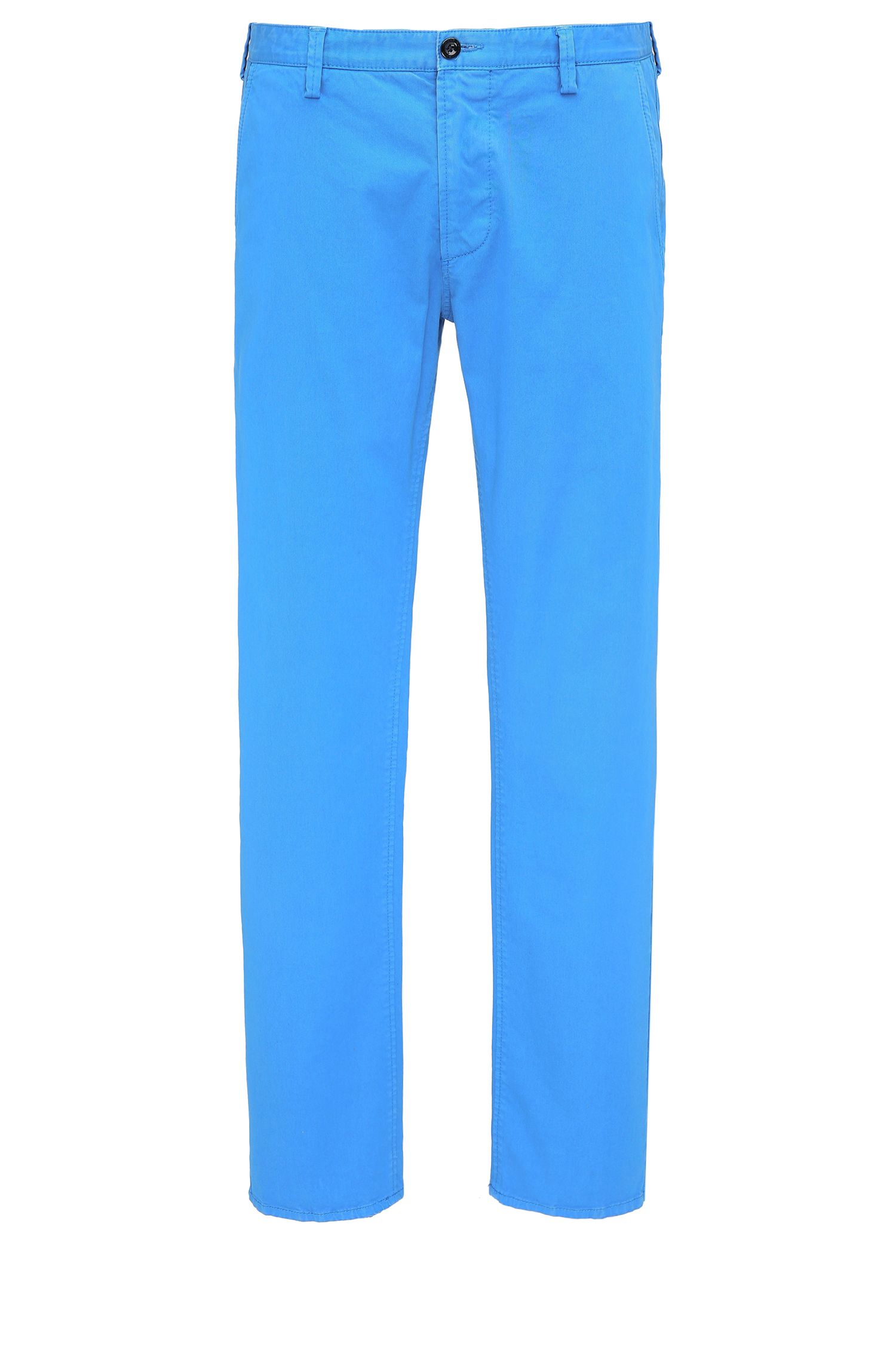 Pantalón slim fit en tejido de gabardina elástica