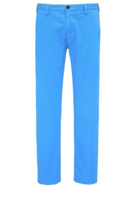 Pantalon Slim Fit en gabardine stretch, Bleu vif