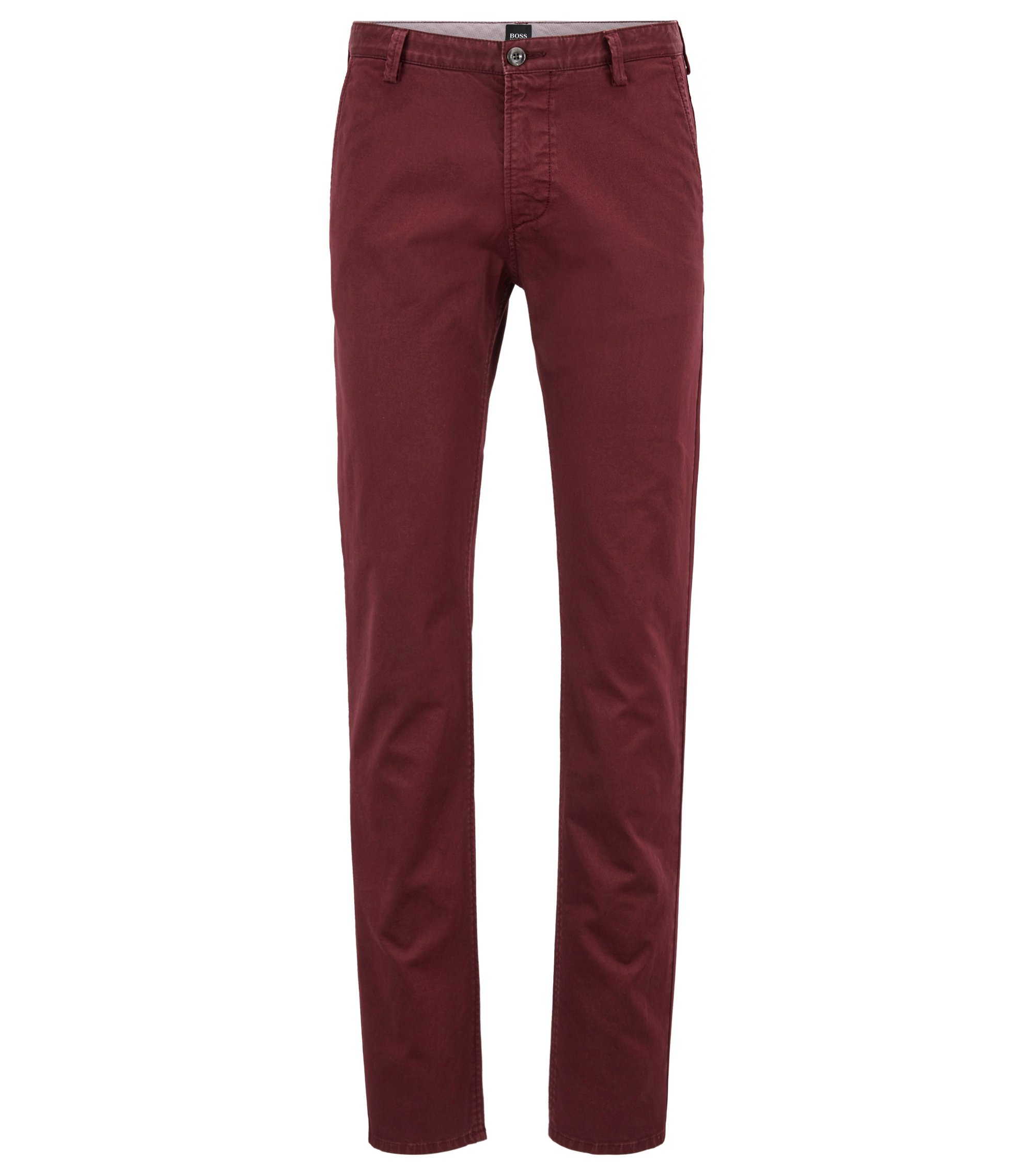 Slim-fit trousers in stretch gabardine, Red