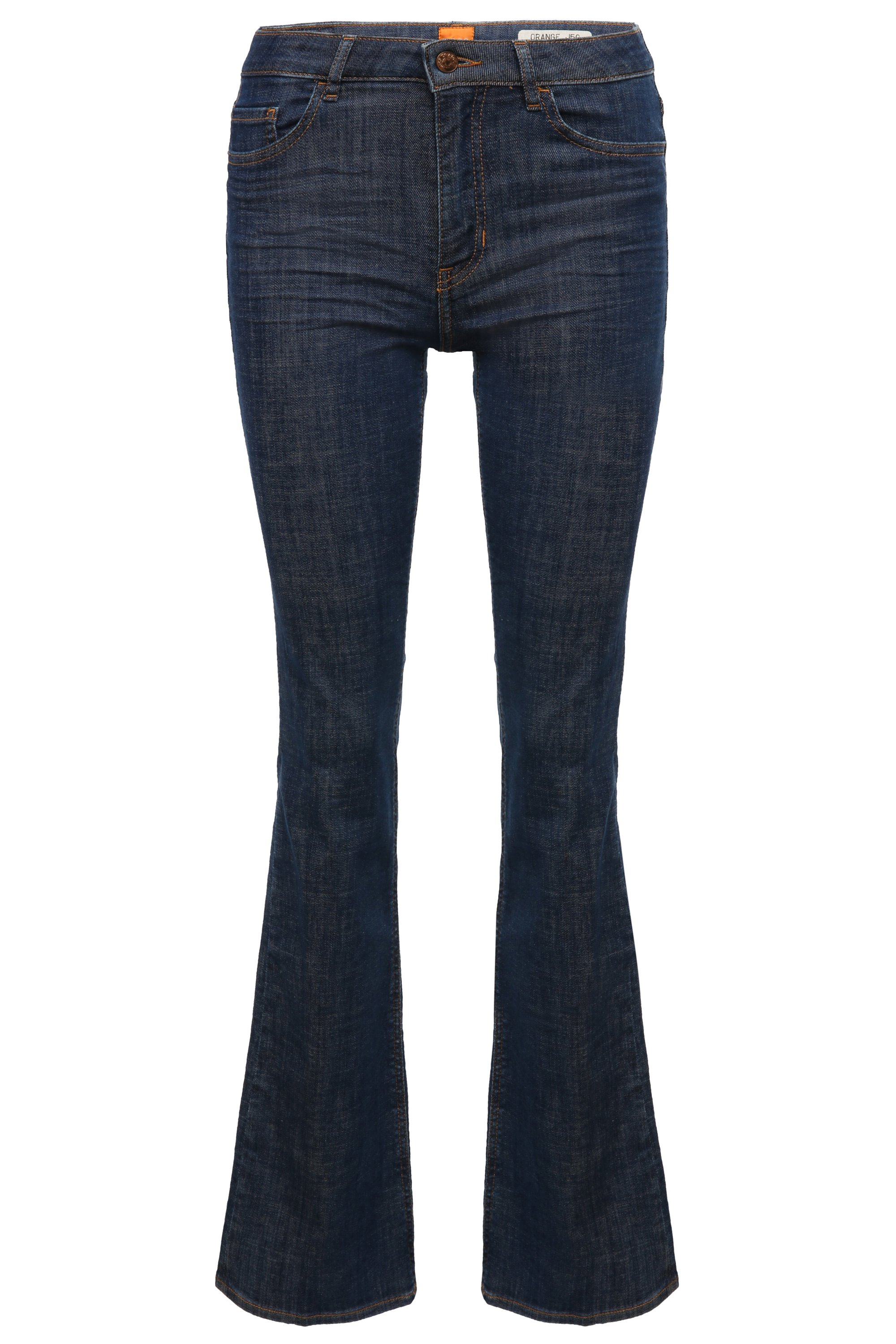 Flared-leg jeans in a cotton blend with elastane: 'Orange J50 Geneve', Dark Blue