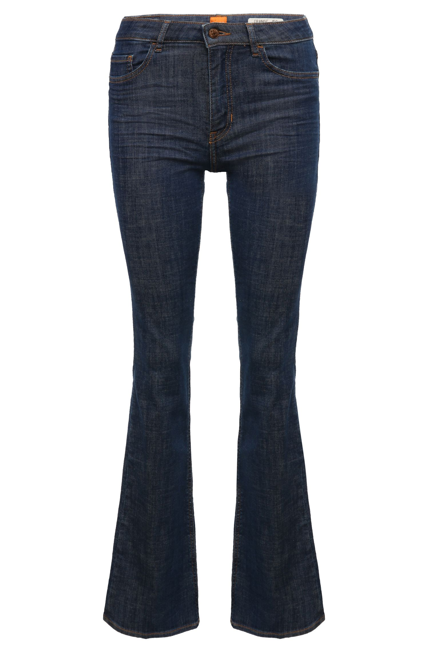 Flared-leg jeans in a cotton blend with elastane: 'Orange J50 Geneve'
