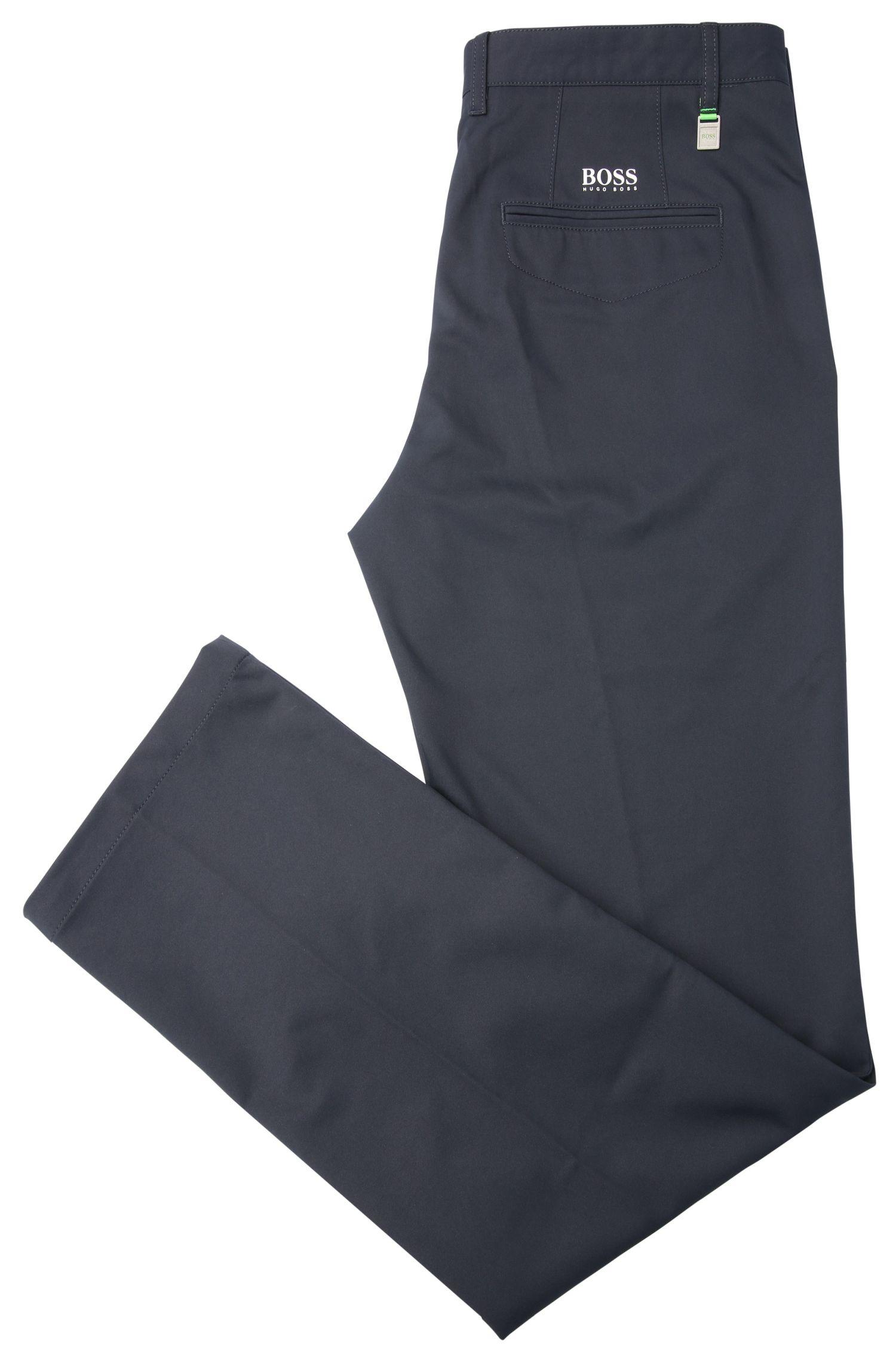 Pantaloni slim fit in tessuto morbido: 'Hakan 9', Blu scuro