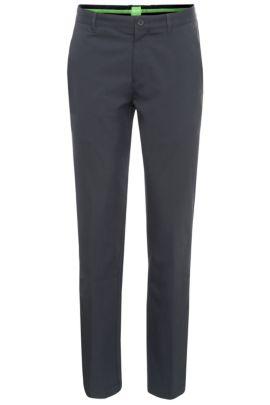 Pantalón slim fit en tejido suave: 'Hakan 9', Azul oscuro