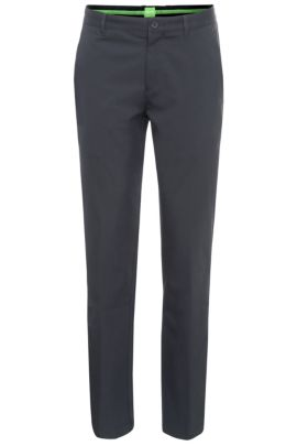 Slim-fit trousers in soft fabric: 'Hakan 9', Dark Blue
