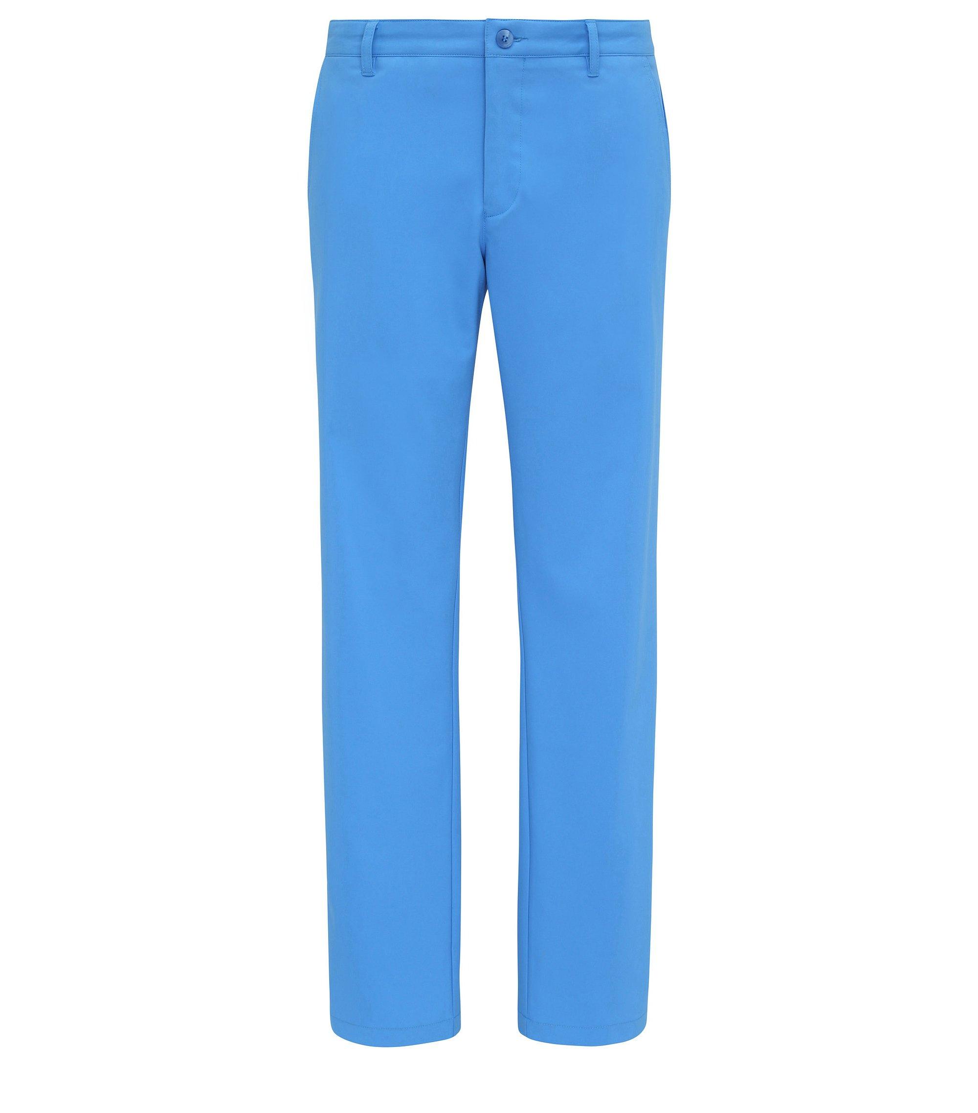 Pantalón slim fit en tejido suave: 'Hakan 9', Azul
