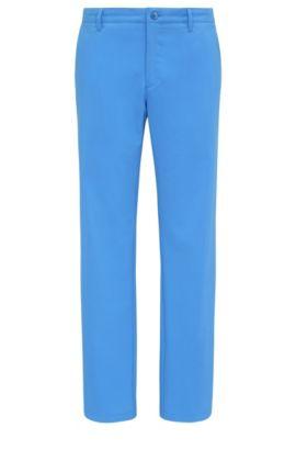 Pantaloni slim fit in tessuto morbido: 'Hakan 9', Blu