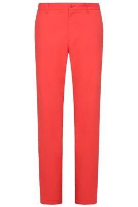 Pantalón slim fit en tejido suave: 'Hakan 9', Rojo claro