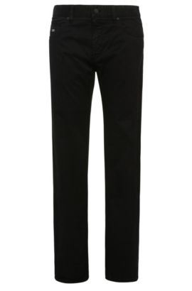 Pantalon Regular Fit en coton stretch : « C-Maine1-1-20 », Noir