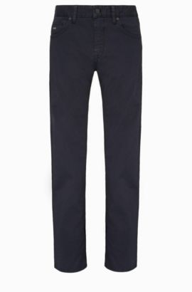 Pantaloni regular fit in cotone elasticizzato: 'C-Maine1-1-20', Blu scuro