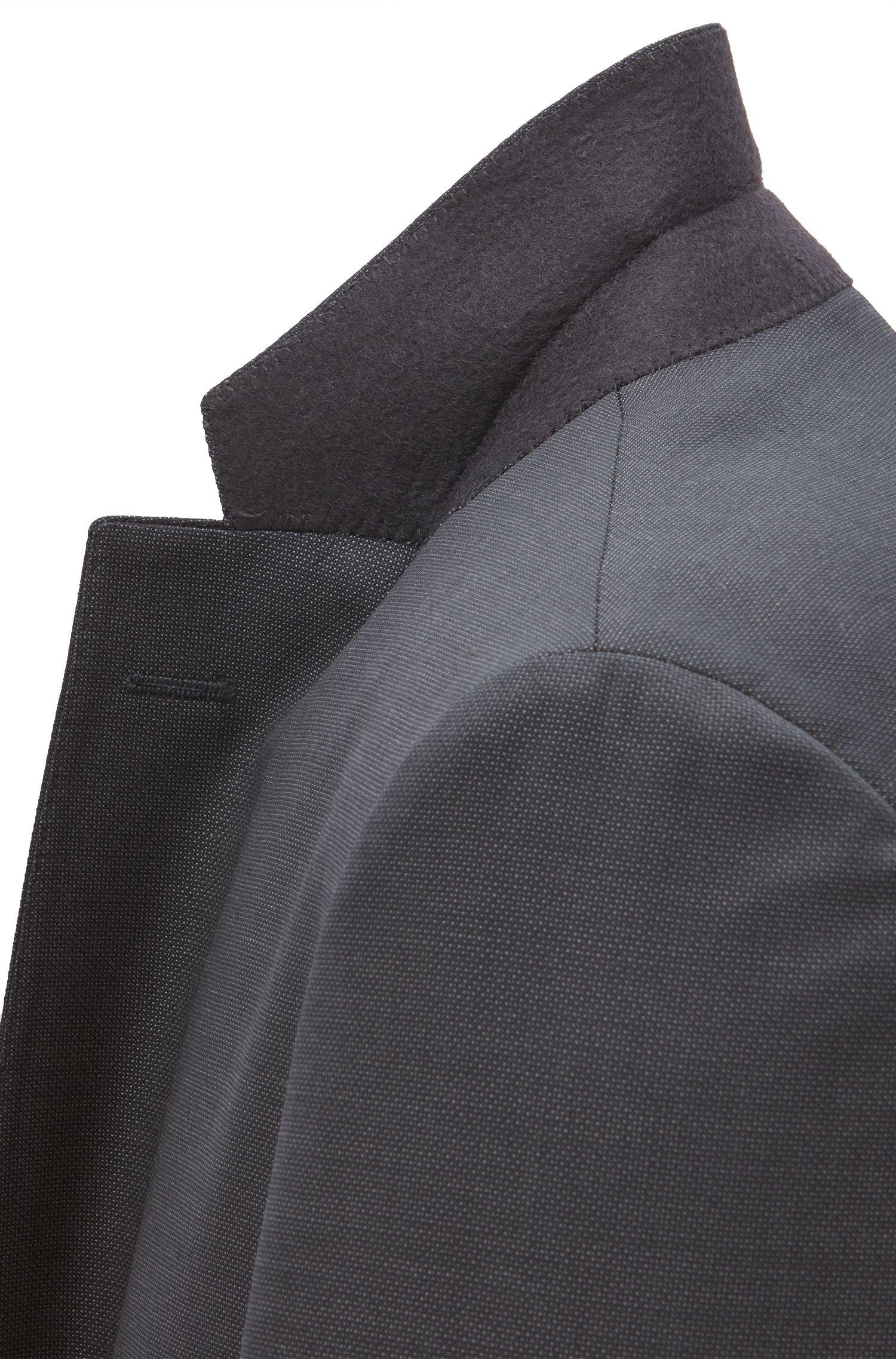 Regular-Fit Sakko aus unifarbener Schurwolle
