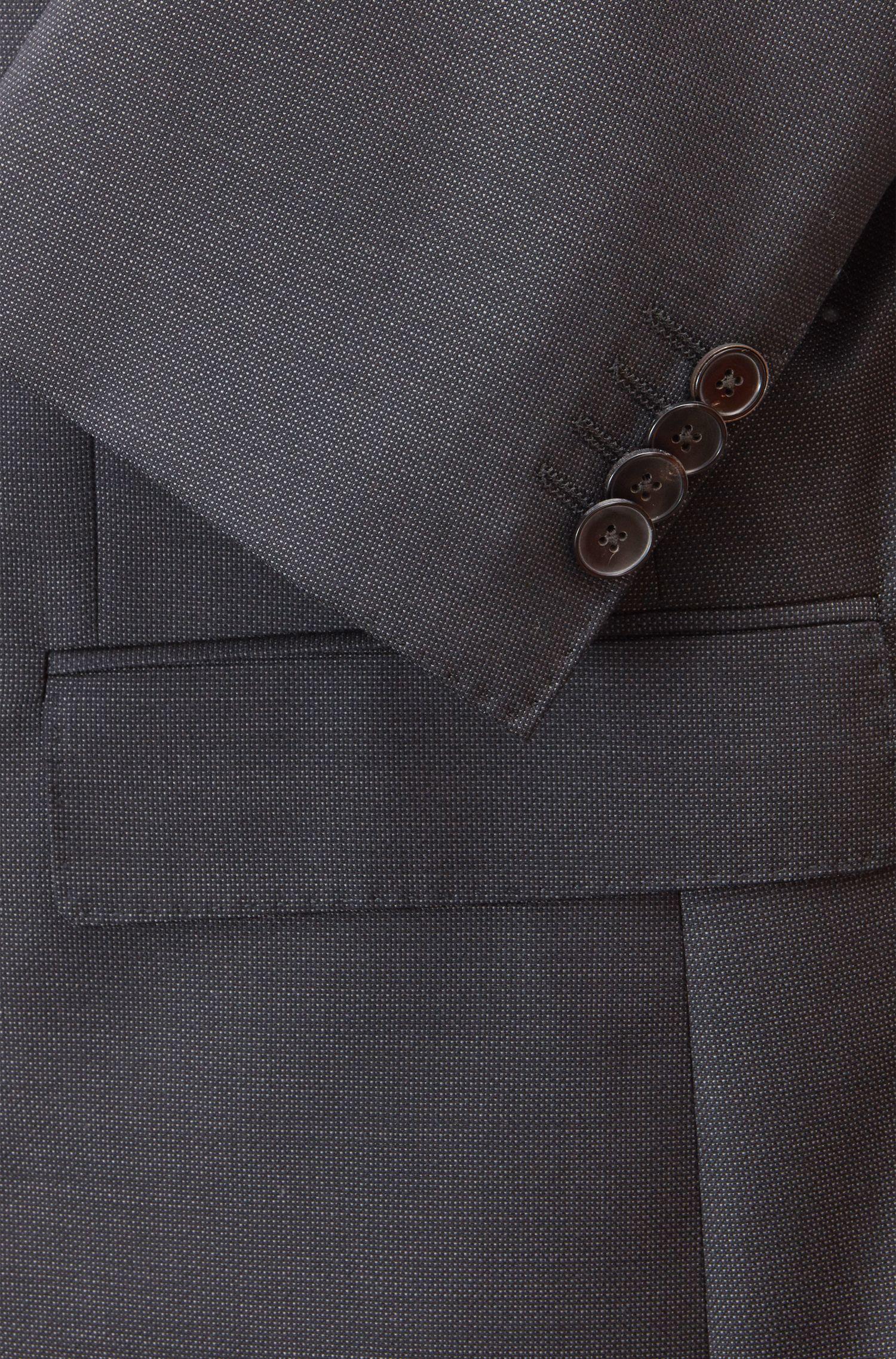 Chaqueta regular fit en lana virgen lisa