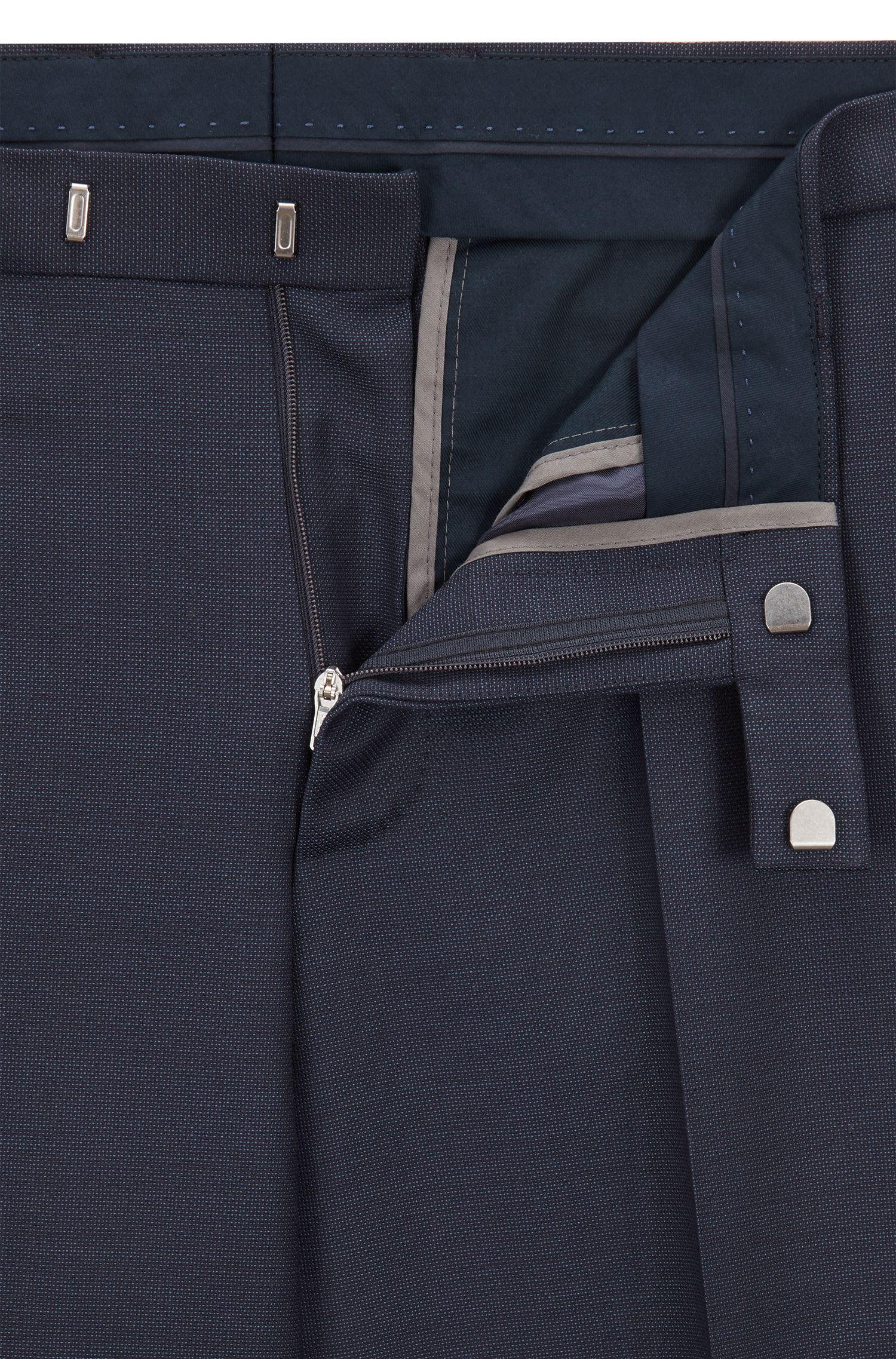 Regular-fit broek van effen scheerwol