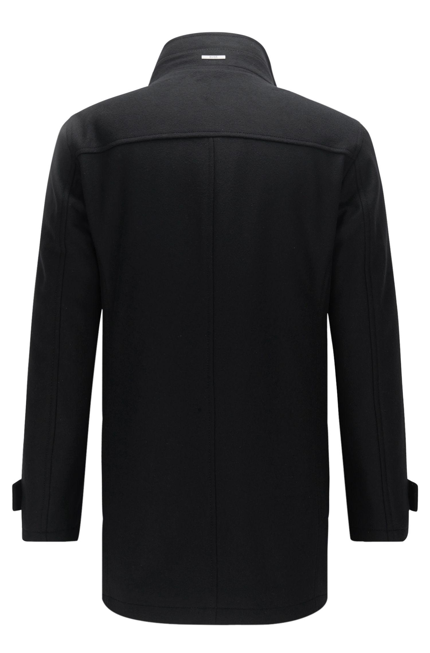 Blouson en laine vierge mélangée, avec du cachemire: «Camlow», Noir
