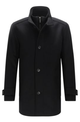 Jacket in new-wool blend with cashmere: 'Camlow', Black
