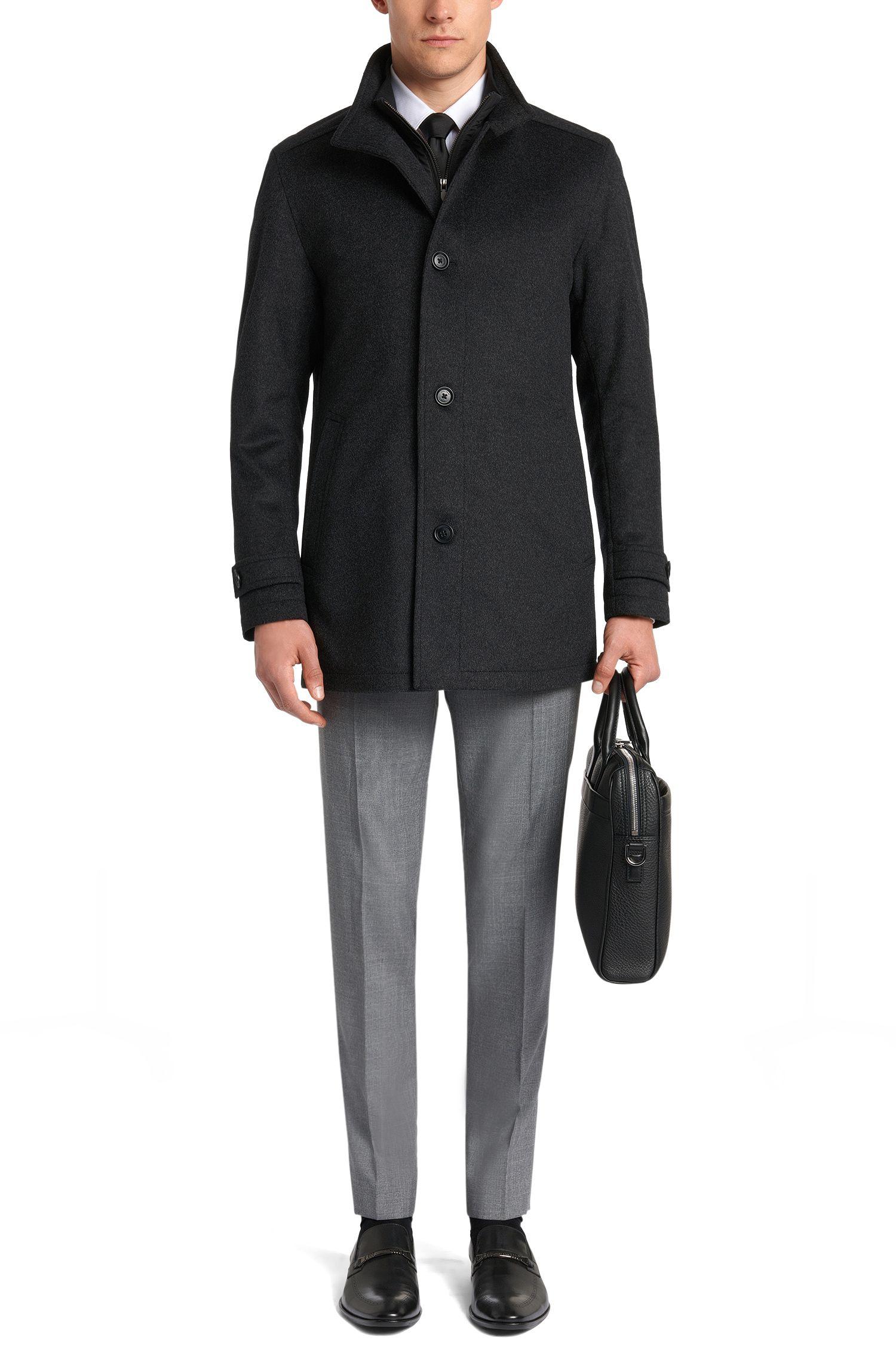 Giubbotto in misto lana vergine con percentuale in cashmere: 'Camlow'