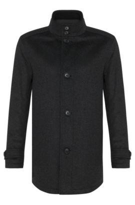 Giubbotto in misto lana vergine con percentuale in cashmere: 'Camlow', Grigio antracite