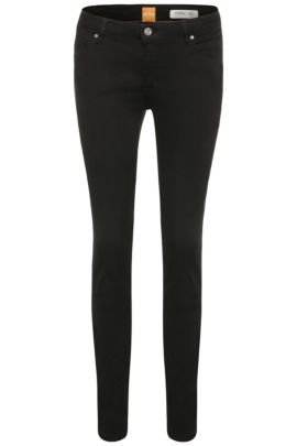 Slim-fit jeans in stretch-cotton blend: 'Orange J20 Berlin', Black