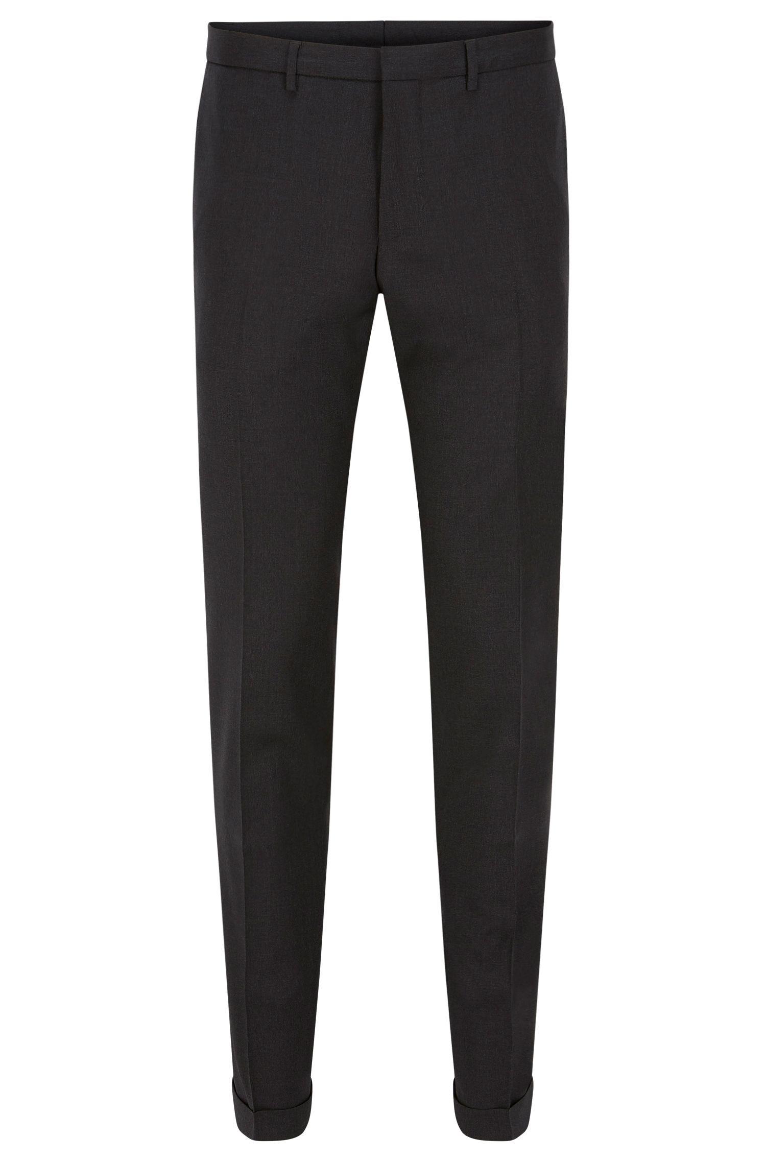 Pantalón extra slim fit en lana virgen