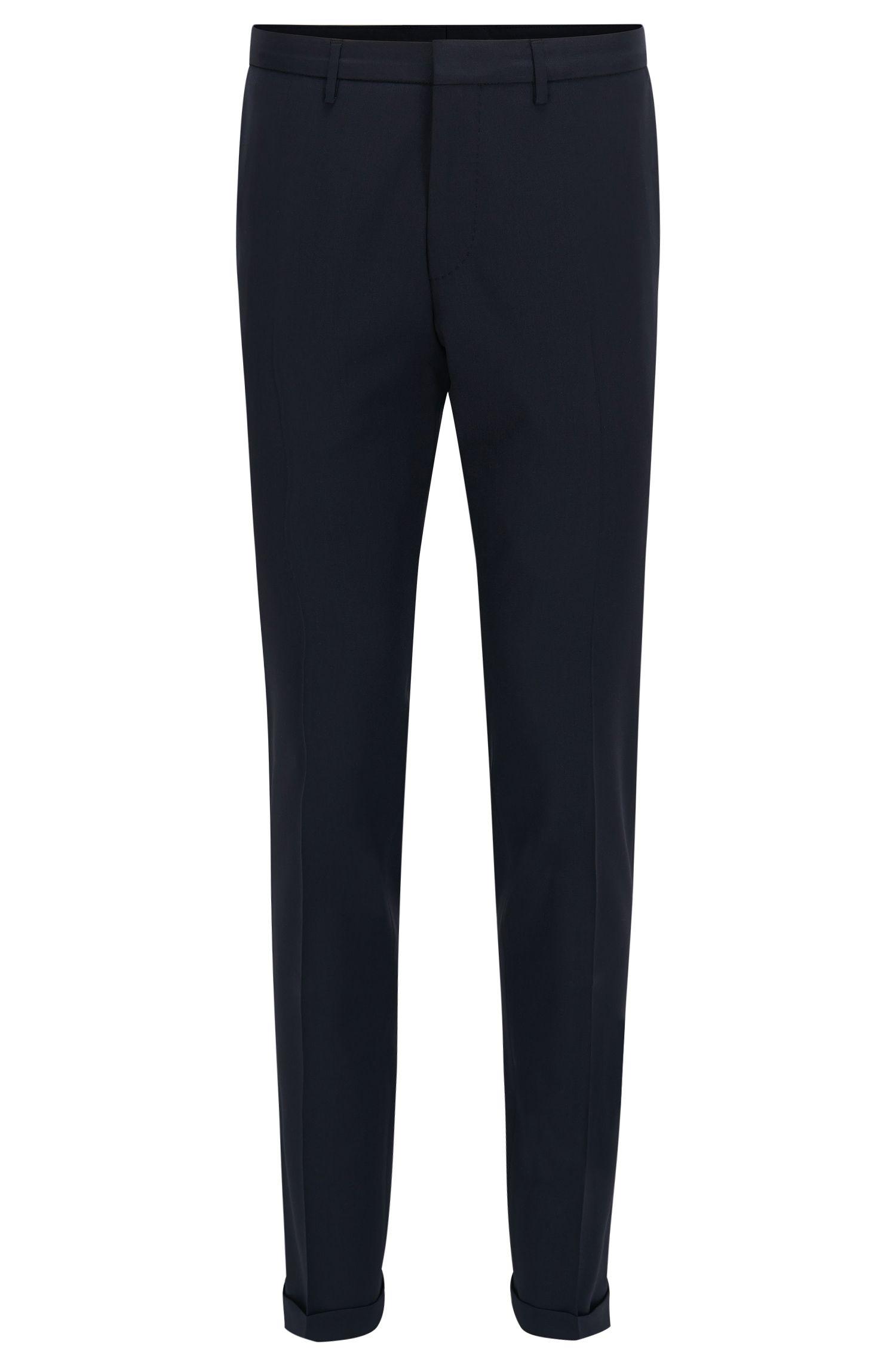 Pantaloni extra slim fit in lana vergine
