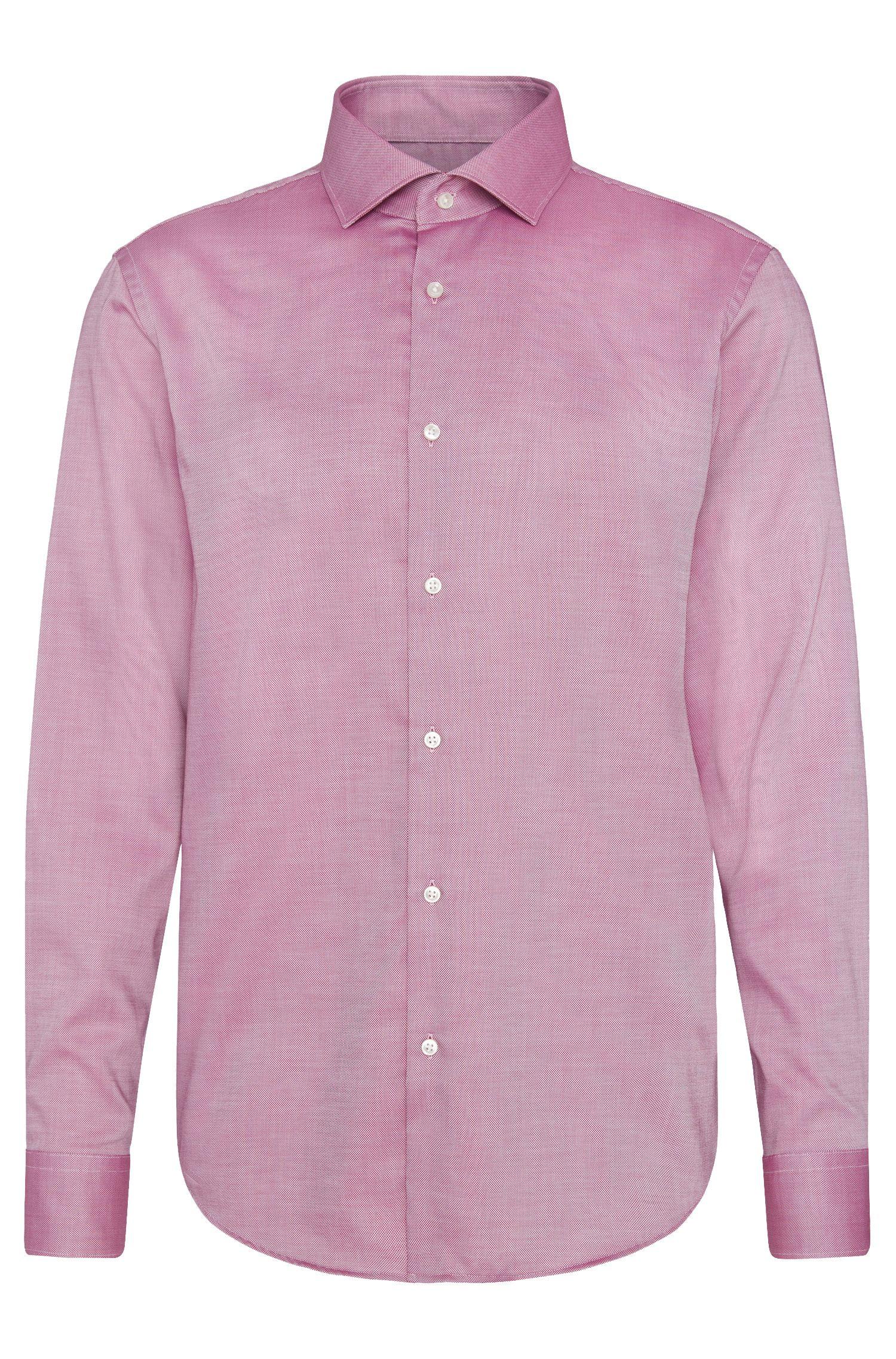 Regular-fit overhemd van katoen met een fijn dessin: 'C-Gordon'