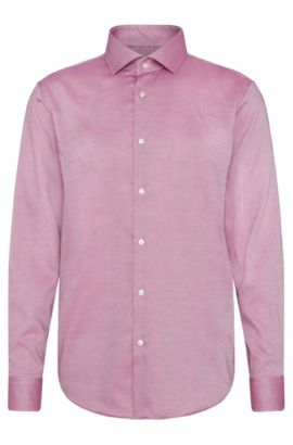Camisa regular fit con estampado elegante en algodón: 'C-Gordon', Lila