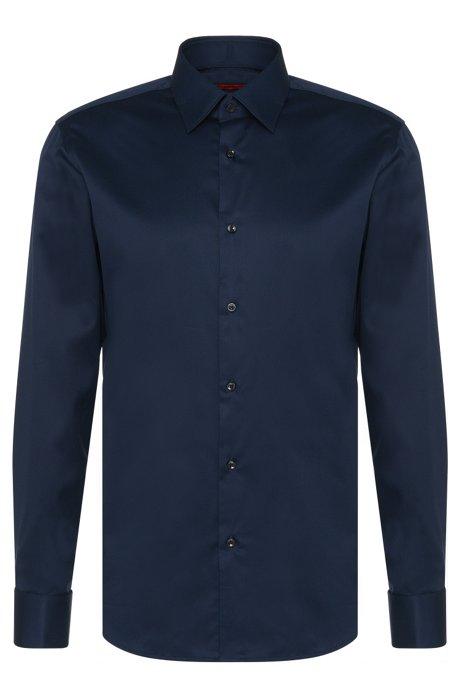 los más valorados sección especial bien fuera x HUGO - Camisa regular fit en algodón con puño doble: 'C-George'