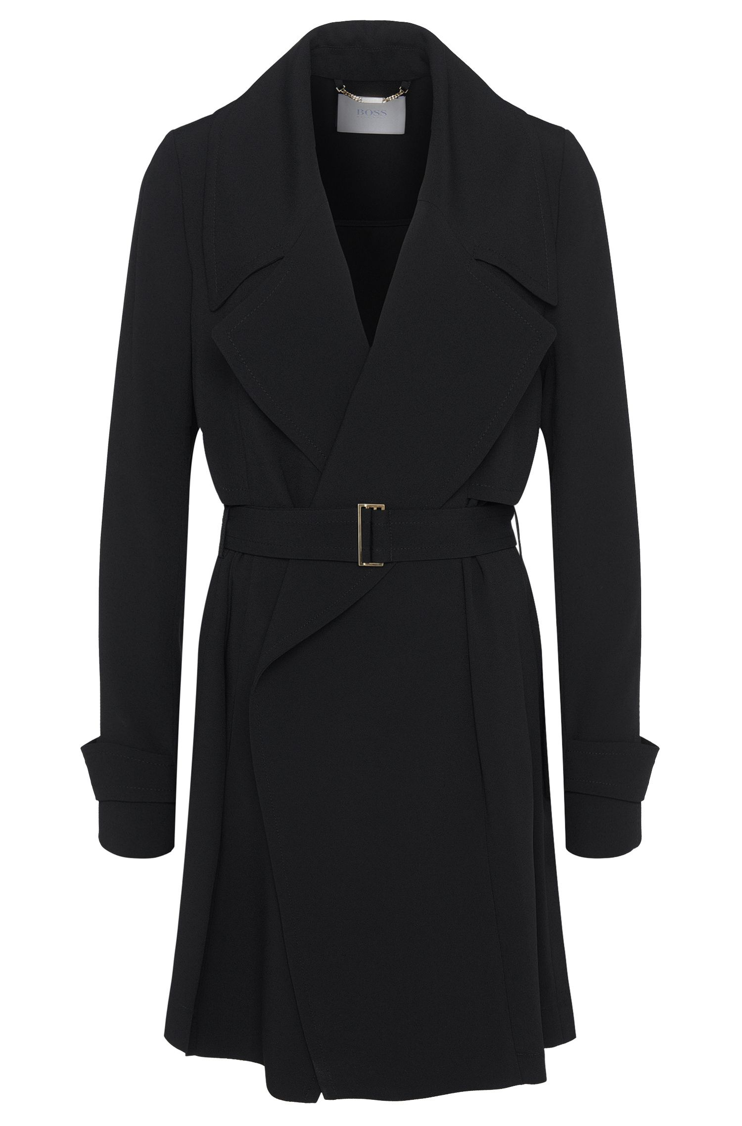 Coat with asymmetric front yoke: 'Celiana'
