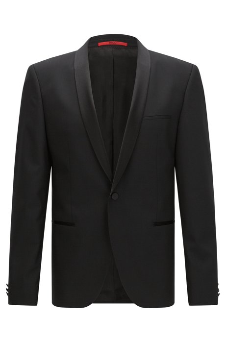 650dc1e02 HUGO - Slim-fit dinner jacket with silk trim by HUGO Man