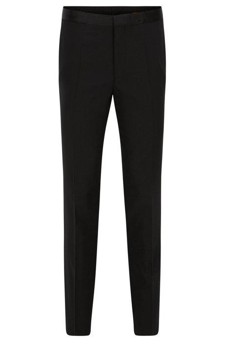 138c6c69a5d HUGO - Pantalón de esmoquin de pierna ajustada en lana elástica