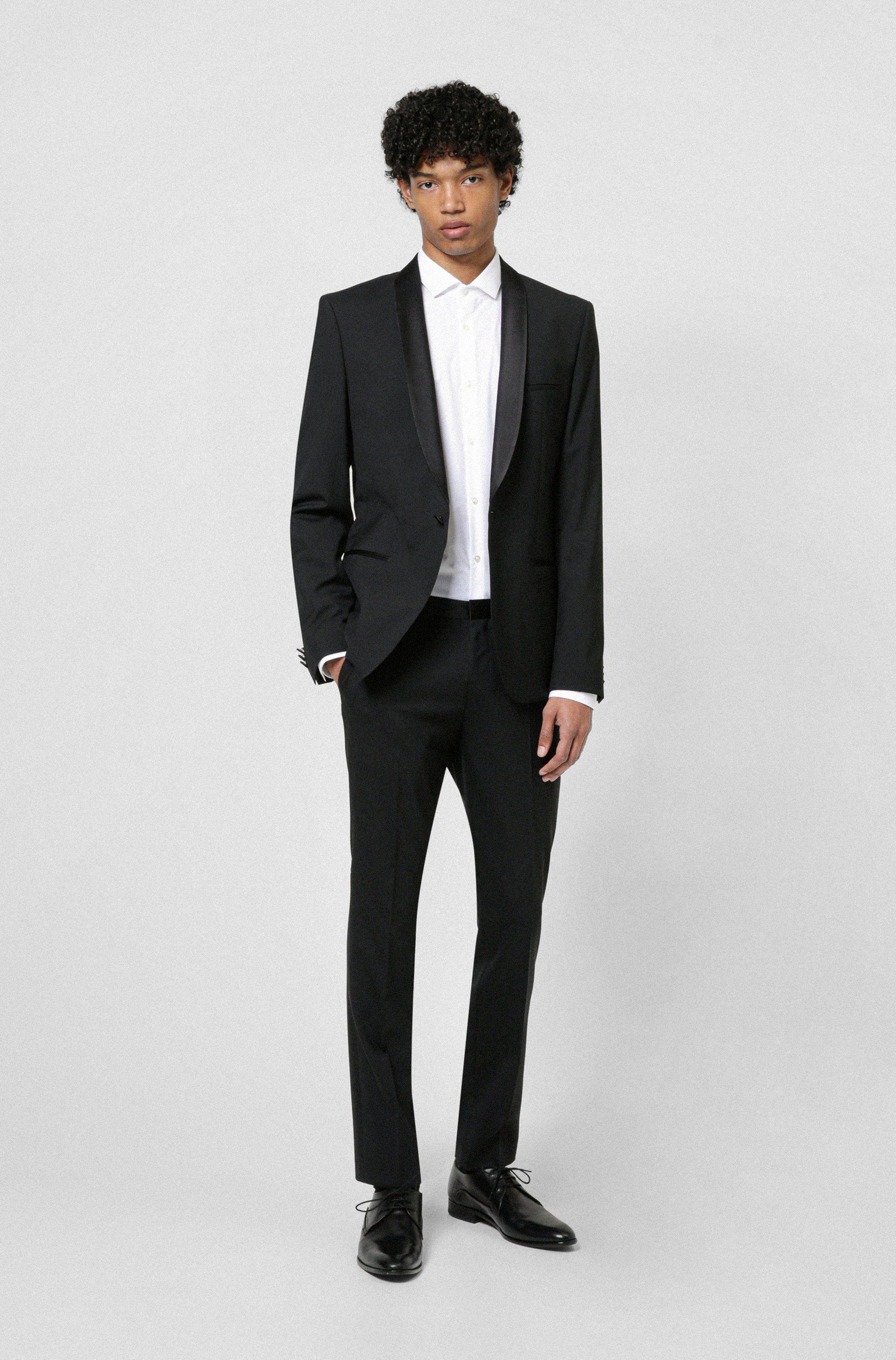 Pantalon Extra Slim Fit avec empiècements en soie