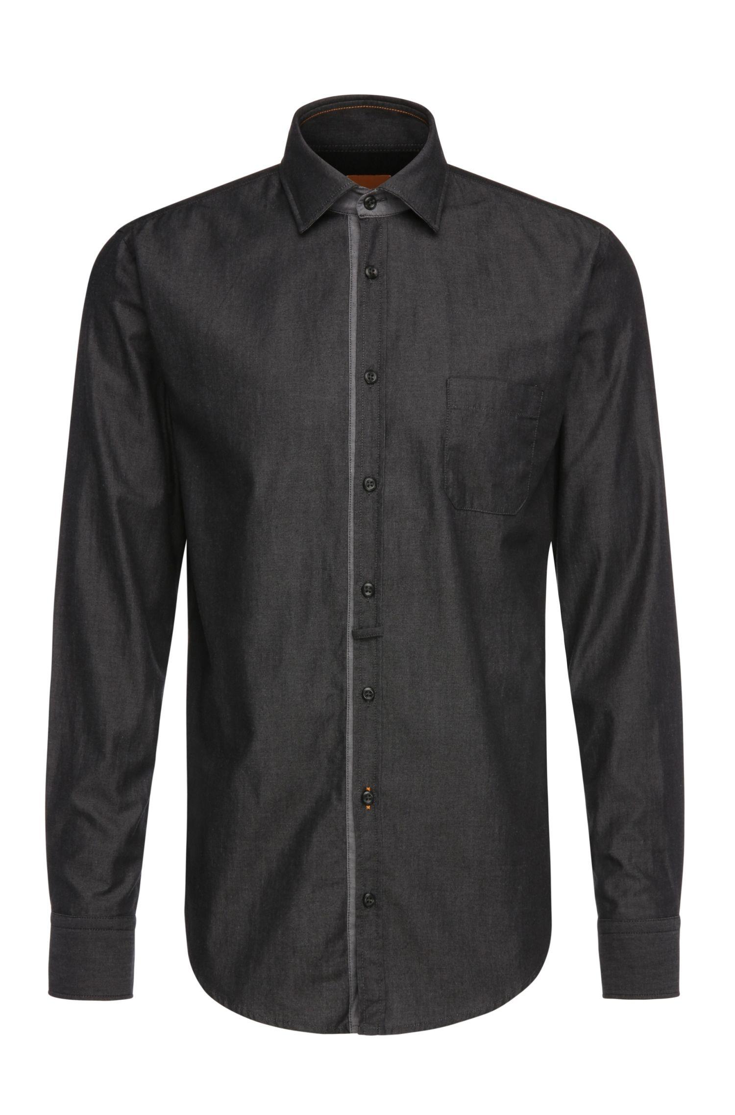 Camicia slim fit in cotone leggero: 'EslimE_1'