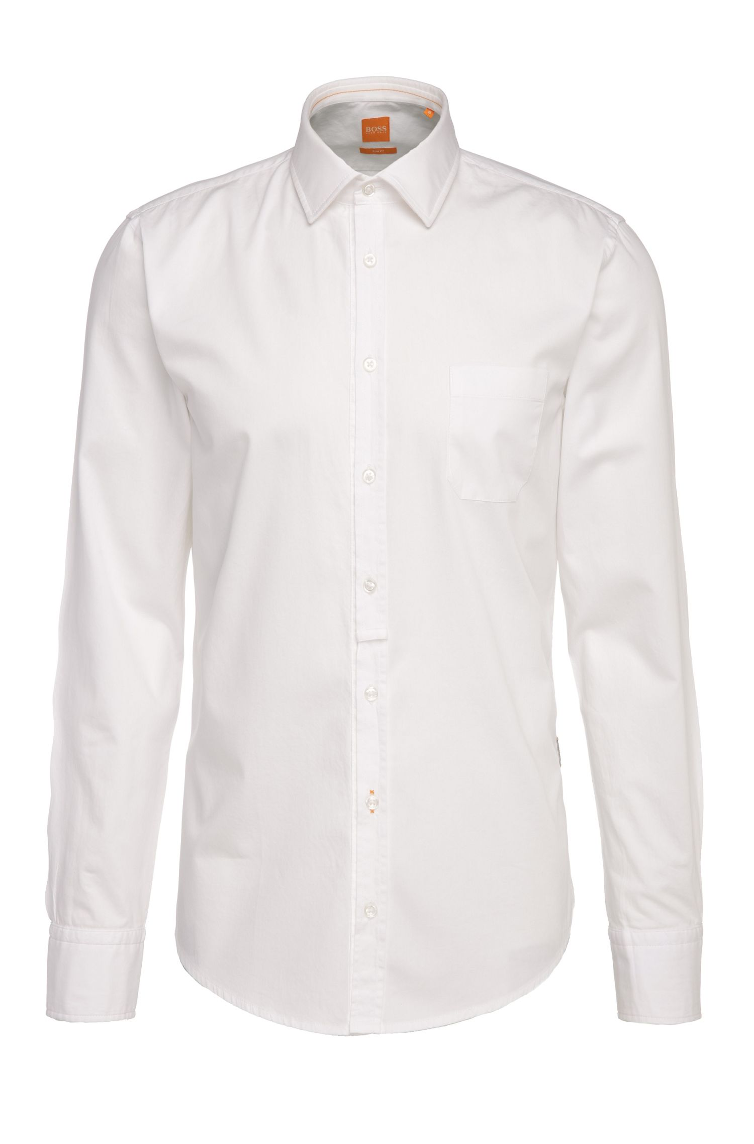 Slim-fit shirt in lightweight cotton: 'EslimE_1'