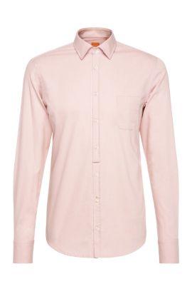 Slim-fit overhemd van lichte katoen: 'EslimE_1', Lichtroze